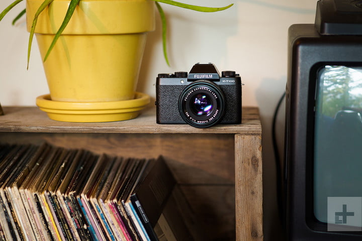 fujifilm x-t100 on shelf