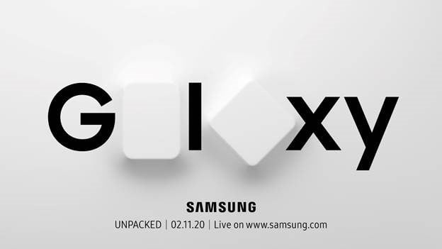 The logo for the Galaxy Unpacked 2020 event