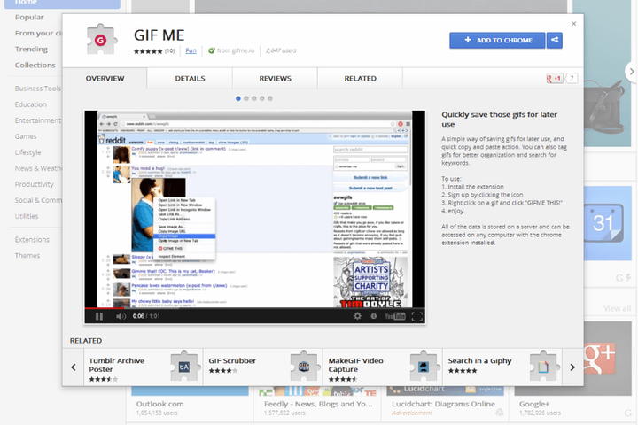keep your collection bin of reactionary gifs up to date with this new chrome extension gifme final