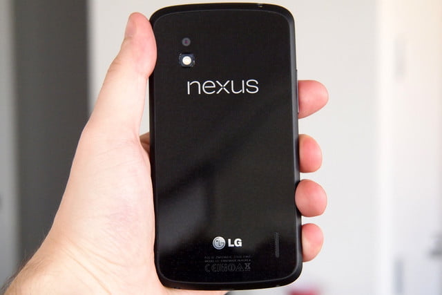 Google Nexus 4 Review back android phone