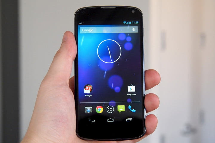 Google Nexus 4 Review front android phone