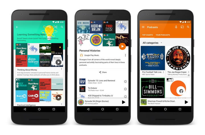 google play music podcasts launch