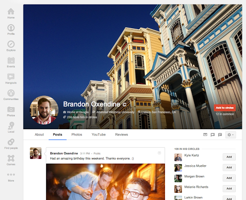 google plus large cover photo update