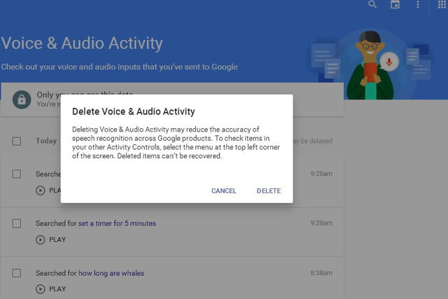 opt out delete google voice search history now 06a