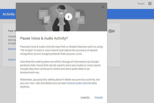 opt out delete google voice search history now 08a