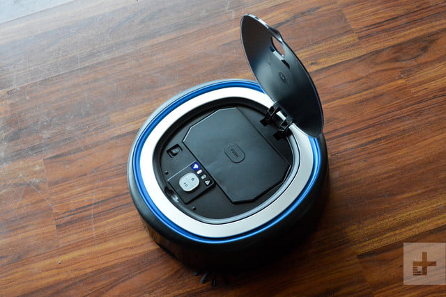 Hoover Rogue 970 robot vacuum review lid up