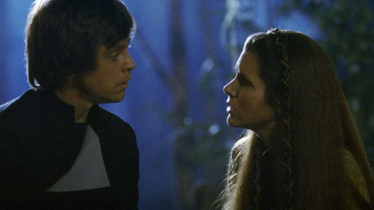 Luke and Leia in Return of the Jedi