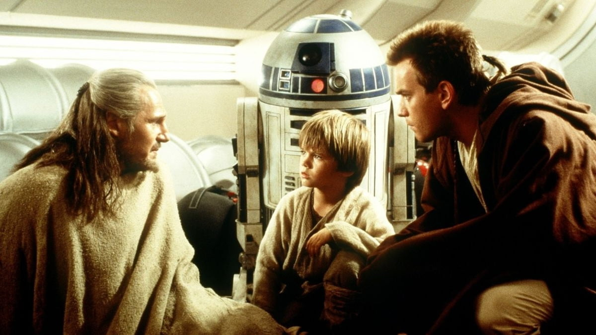 Obi-wan and Qui-gon talking to Anakin in Phantom Menace