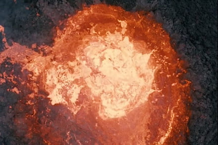 Drone pilot melts his machine for stunning volcano video