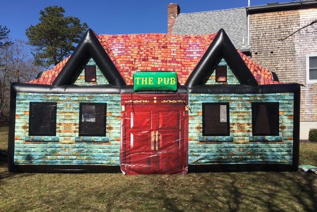 inflatable pub company rentals st patricks day cape cod