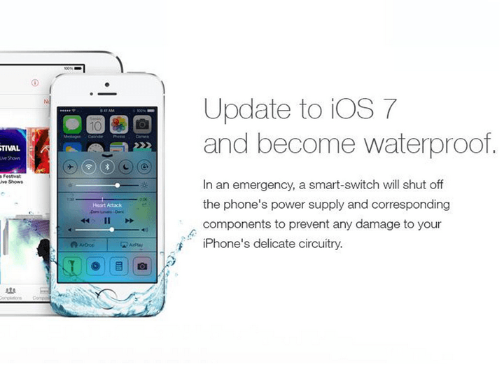ios 7 does not make your phone waterproof