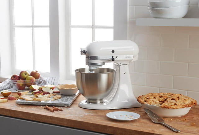 home depot drops prices on kitchenaid mixers espresso maker and food processor classic 4 5 qt  10 speed tilt head white stand