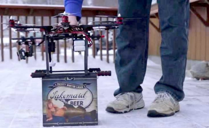 injustice faa crack beer delivery drone may based hot air lakemaid drones fe