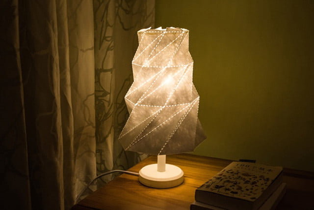 origami lamp shade launches on kickstarter lampshade4