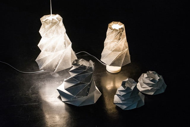 origami lamp shade launches on kickstarter lampshade6