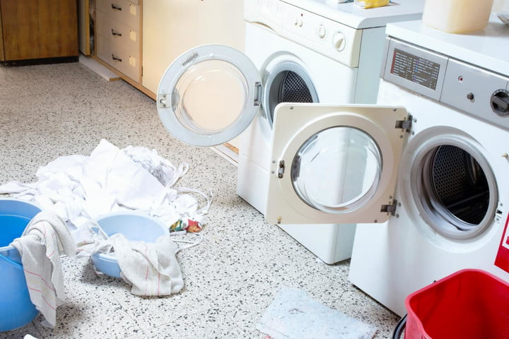whirlpool moldy washer settlement laundry room with washing machine and dryer
