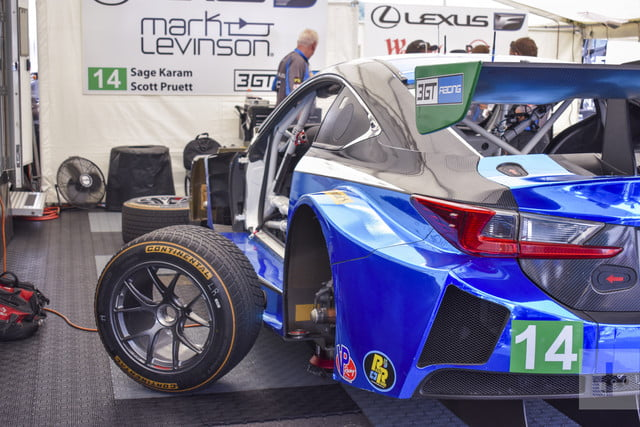 Wheel and front left of the Lexus RC F GT3