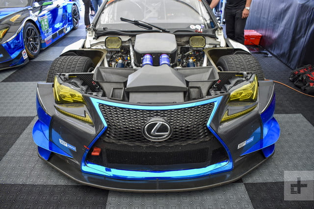 Close-up of the engine and front side for the Lexus RC F GT3