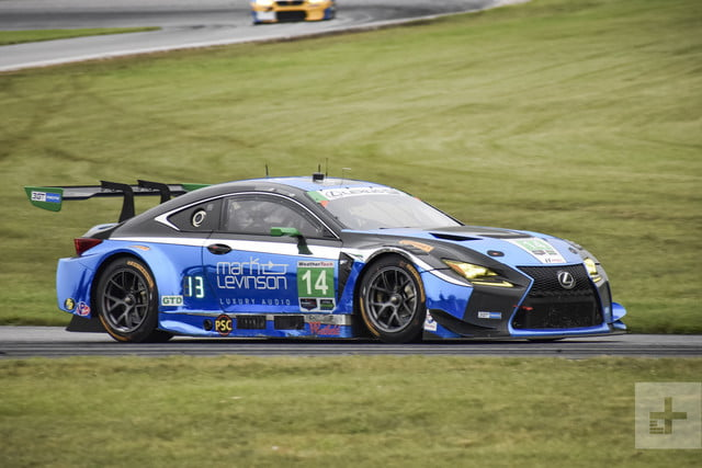 Lexus RC F GT3 side shot on the race track