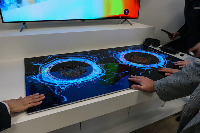 oled display commecial applications transparent ces 2017 commercial displays will go  produce sound