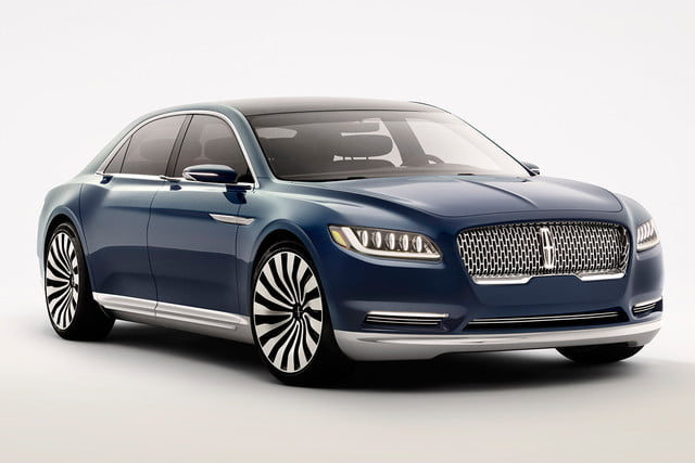top 5 concept cars of 2015 opinion pictures specs lincolncontinentalconcept 04 front