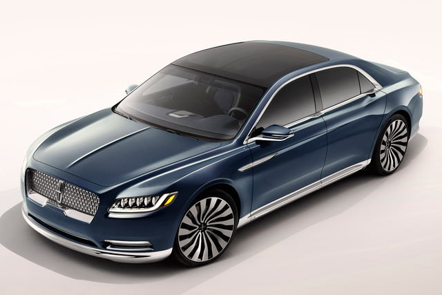 top 5 concept cars of 2015 opinion pictures specs lincolncontinentalconcept 05 front  high