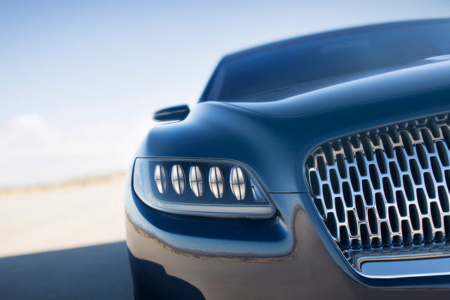 top 5 concept cars of 2015 opinion pictures specs lincolncontinentalconcept 11 detail headlamp
