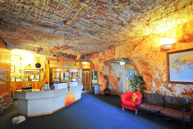 coober pedys residents live in underground dugouts lookout cave motel 0017