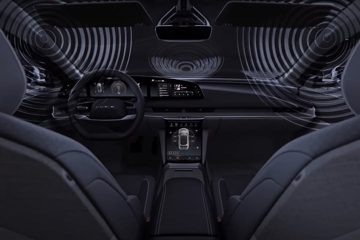 Lucid Air interior with Dolby Atmos sound