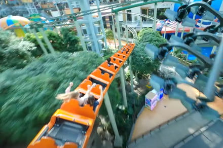 Check out this FPV footage of a drone zipping through the Mall of America