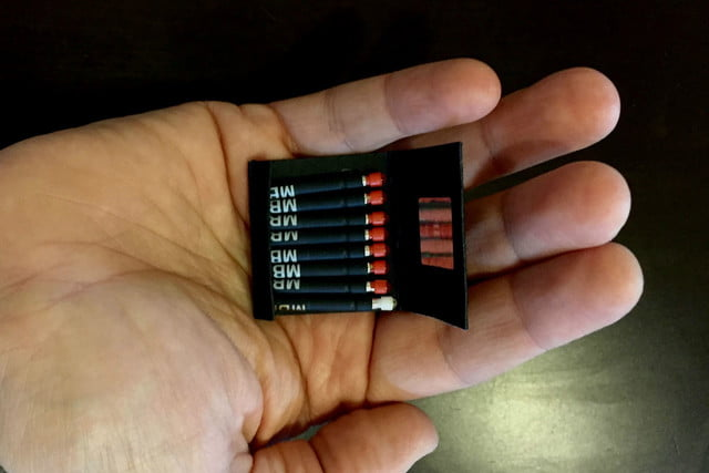 matchbook packed with 8 worlds tiniest flashlights matchbooks6