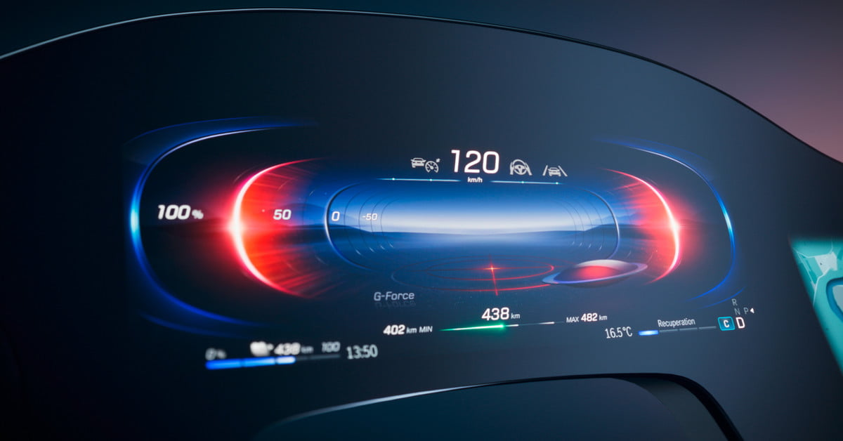 Mercedes-Benz's new 'Hyperscreen' dashboard is a dazzling 56-inch OLED panel