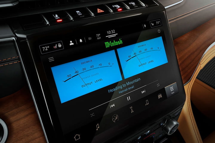 McIntosh in-car audio system inside the 2022 Jeep Grand Wagoneer