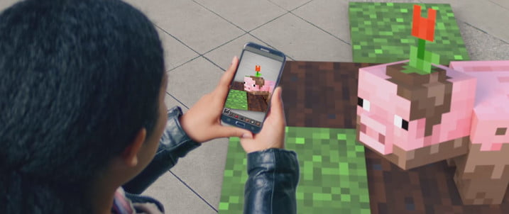 AR Minecraft augmented reality reveal Microsoft Build 2019