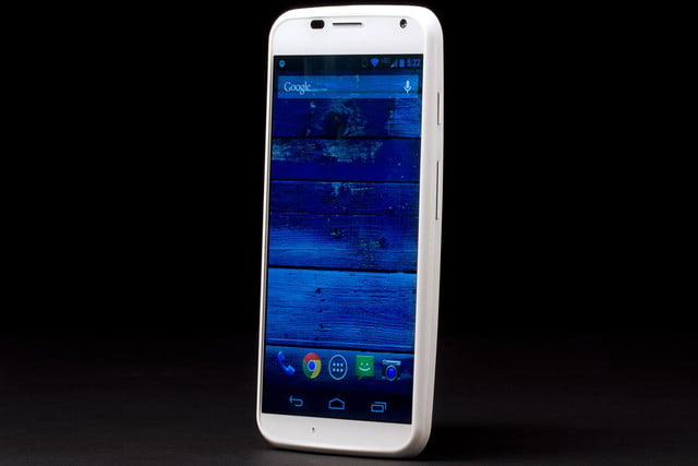 Moto X front screen angle left