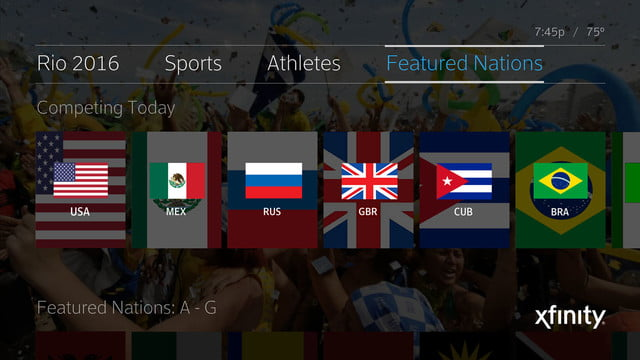 comcast x1 rio olympics 6000 hours internet streams broadcast multicultural featured nations