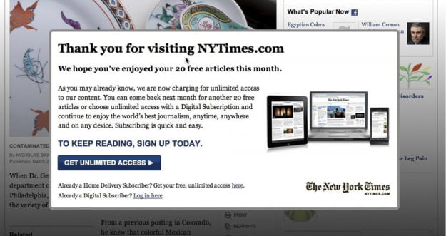 New York Times Paywall