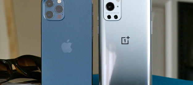 oneplus 9 pro vs apple iphone 12 and