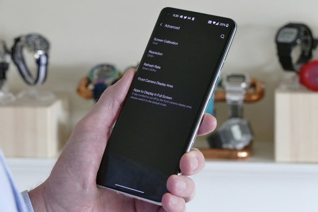 oneplus 9 pro review screen settings