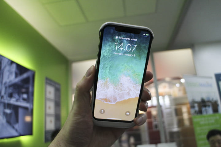 Ossia Spigen wireless charger on phone