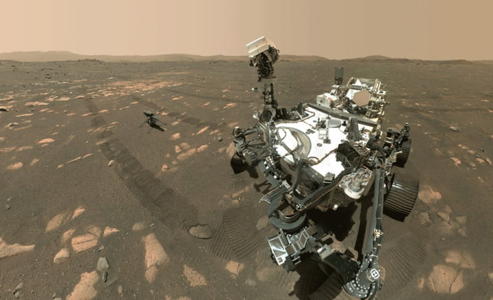 Perseverance rover's first-ever selfie also shows Mars helicopter