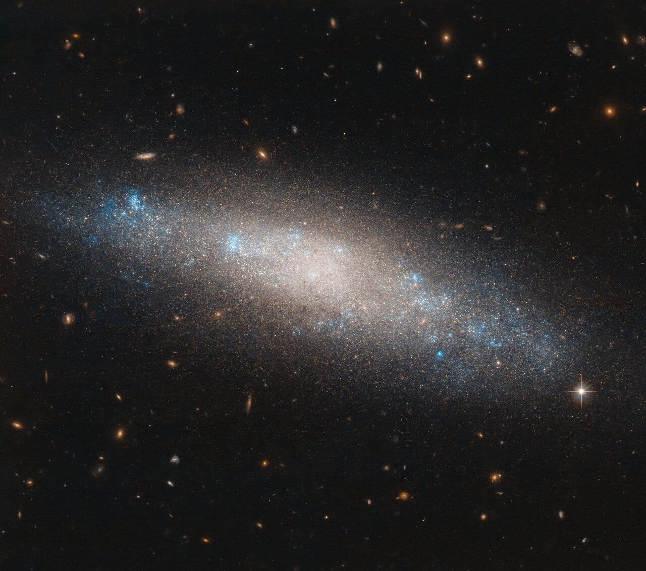 This Hubble image shows NGC 4455