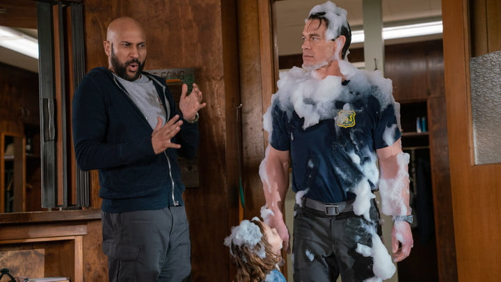 Keegan Michael-Key and John Cena in Playing with Fire
