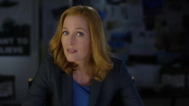 x files gillian anderson promo images spot for revival includes 21 grisly