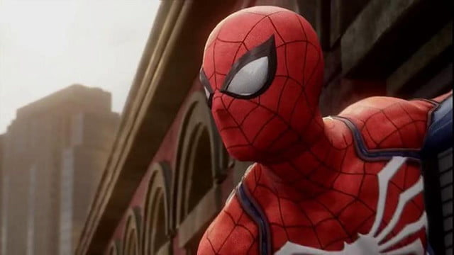 spider man on play station 4 at e3  swings onto the playstation