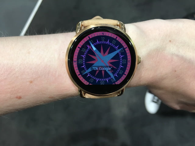 fossil q wander marshal hands on and