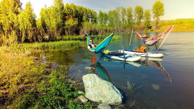 hammocraft hammock over water with the innovative