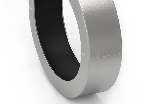 qbracelet wearable battery pack polished silver