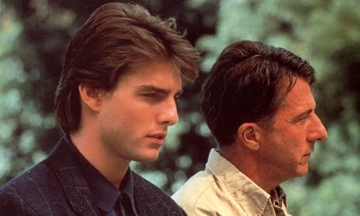 Tom Cruise and Dustin Hoffman in Rain Man