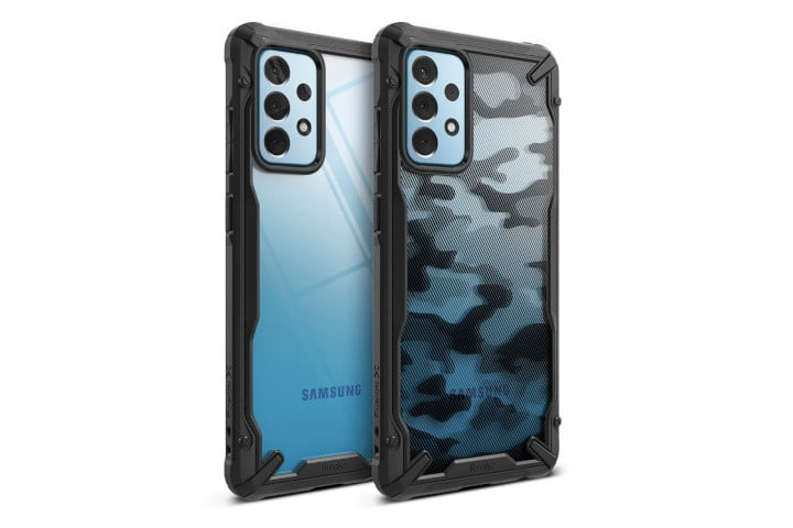 The back of two Ringke Fusion-X cases, in different styles.